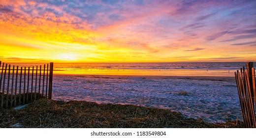 A December sunrise on the Hilton Head Island, SC beach; just me and the birds.