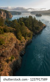 Deception Pass Park, Washington. Deception Pass is a strait separating Whidbey Island from Fidalgo Island, in the northwest part of the U.S. state of Washington.