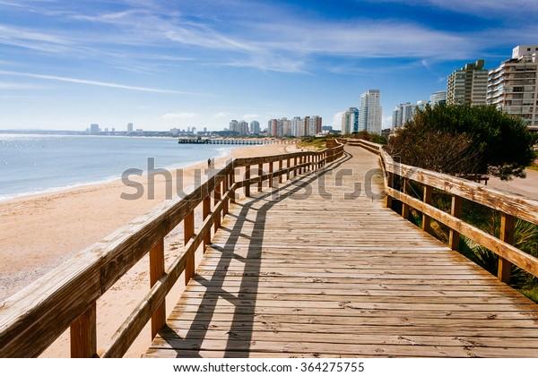Deck at the beach in Punta del Este