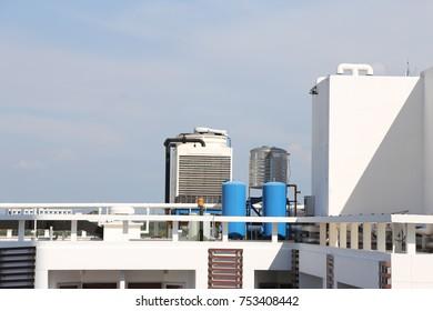 deck of building in sunlight