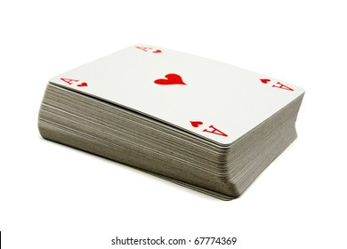 deck of cards isolated on white background