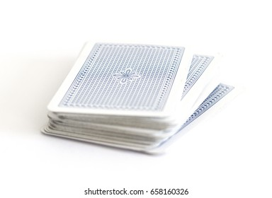 Deck of cards on white background.