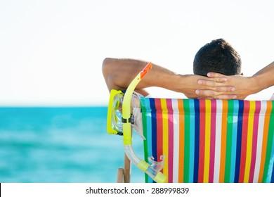 Deck Chair, Beach, Senior Adult.
