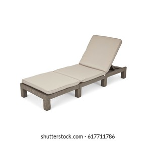 Deck chair isolated on white. Beach chair on white background