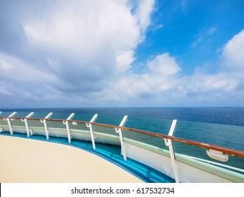 deck of luxury cruise ship