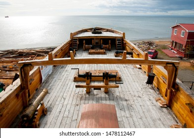 Deck of Old Wooden Ship