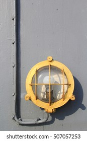 The Deck Outdoor Lighting Fixture System of Old Military Battleship