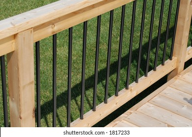 Deck railing section