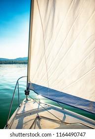 Deck of a sailboat