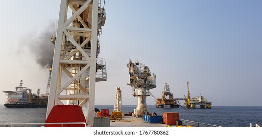 deck view of an offshore support vessel