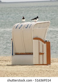 deckchair on the beach in the sun