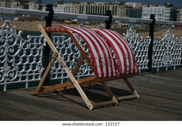 Deckchairs in the breeze