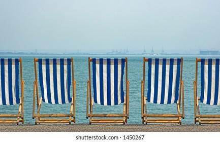 Deckchairs, Southend, England