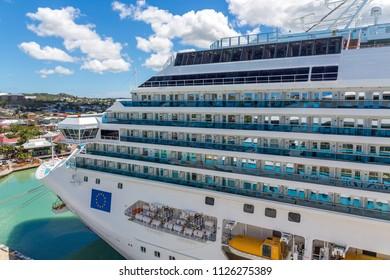 Decks on European Cruise Ship