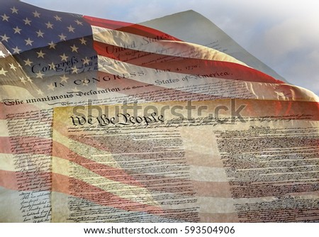 compare declaration of independence and the constitution