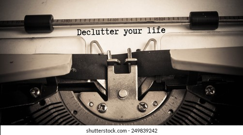 Declutter your life on typewriter