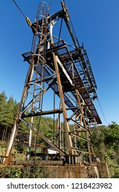 Decommissioned Cableway that used to transport asbestos between Barberton and Bulembu Swaziland(eSwatini), it crossed an international Boarder, Saddleback Pass (R40), Mpumalanga, South Africa