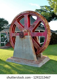 A decommissioned machine cog on display in Maui Hawaii