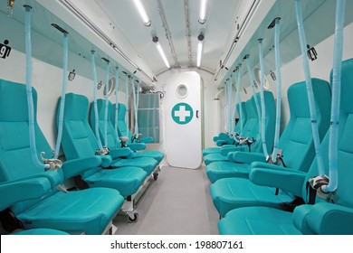 Decompression chamber, also known as recompression or hyperbaric chamber. A sealed compartment that is pressurized to mimic different levels of atmospheric pressure. Mostly used for scuba divers.