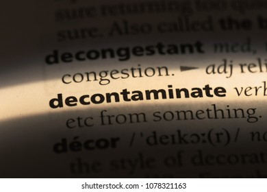 decontaminate word in a dictionary. decontaminate concept