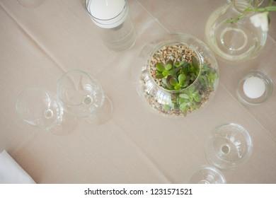 Decor detail of wedding reception