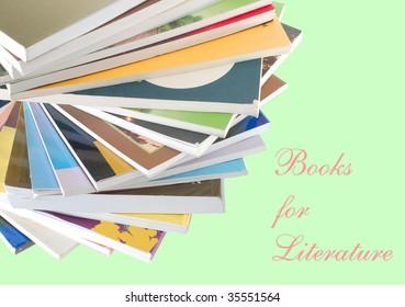 decor on literature books