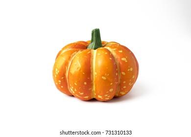 decor pumpkin for halloween concept isolated
