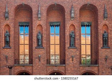 Decor of Stockholms Stadshus, Sweden, Europe