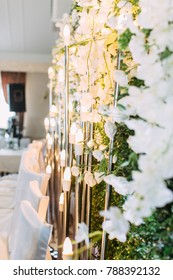 The decor of the wedding hall