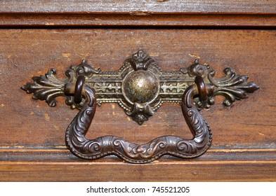decorated antique handle