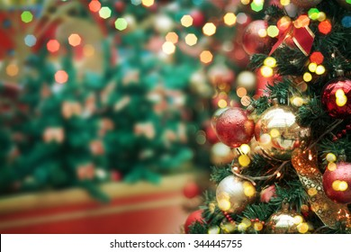 decorated Christmas tree  - Shutterstock ID 344445755
