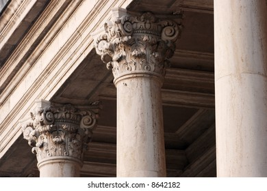 Decorated column details of a historic building