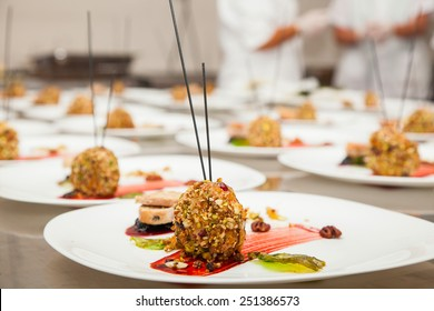 decorated delicious dish by a chef, ready to be served