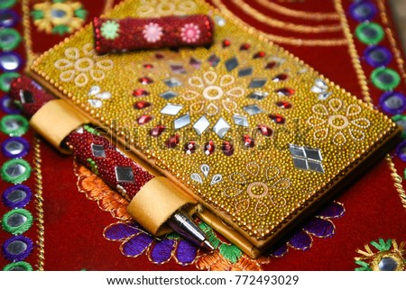 Decorated Diary Pen Rajasthani Handicraft Jaipur Stock Photo Edit