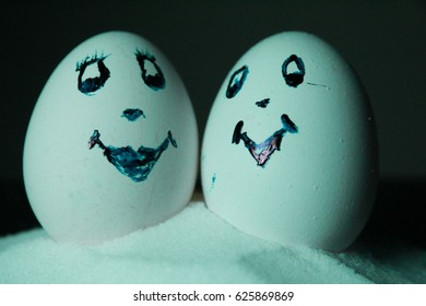 Decorated egg as lovers