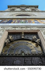 The decorated entrance of Pannonhalma Arch abbey