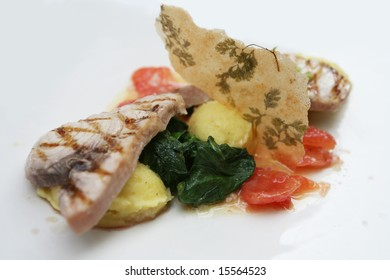 decorated fish dish