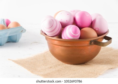 Decorated fresh eggs