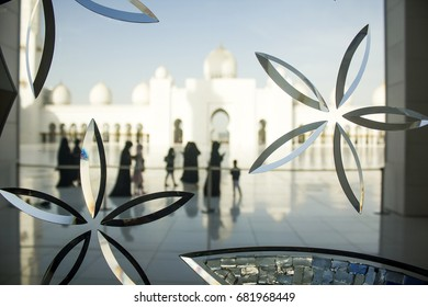Decorated Glass  of Sheikh Zayed Grand Mosque, A photo taken at Abu dhabi, United Arab Emirates