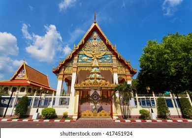 A decorated Mongkol Nimit buddhist temple located in old Phuket town in Phuket