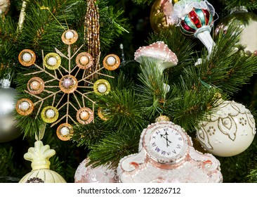 Decorated on Christmas tree in New Year