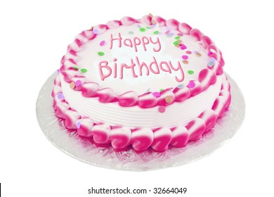 Amazing Pink Birthday Cake Images Stock Photos Vectors Shutterstock Funny Birthday Cards Online Elaedamsfinfo