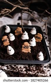 Decorated SUgar Haloween Spooky Cookies