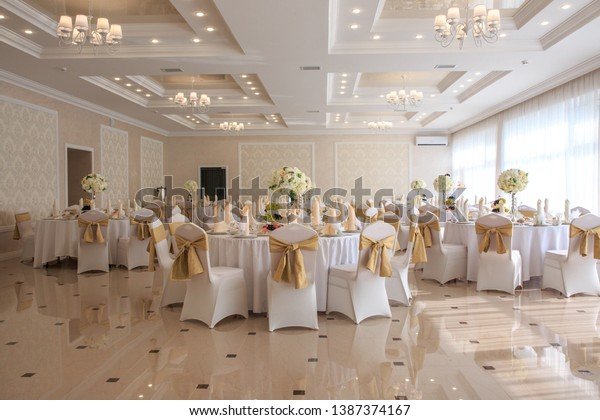 Decorated Wedding Banquet Hall Classic Style Stock Photo Edit Now 1387374167