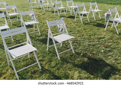 Decorated wedding chair