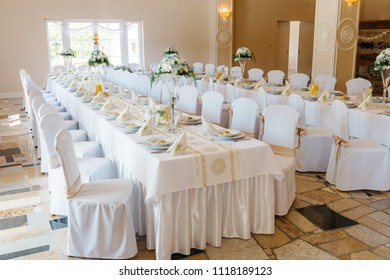 decorated wedding tables