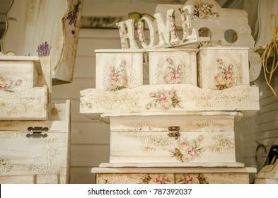 Decorating items, decoupage vintage