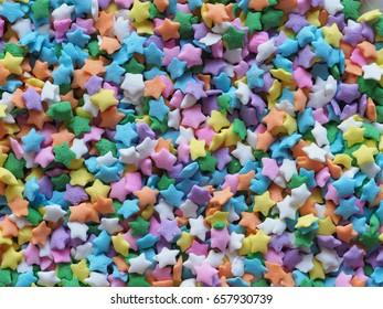 Decorating star sprinkles