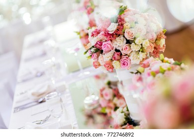 Decoration with beautiful roses