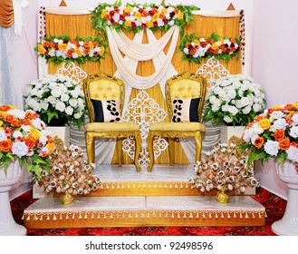 Malay wedding images stock photos vectors shutterstock decoration of the bride wedding bridal culture of malay in malaysia junglespirit Gallery